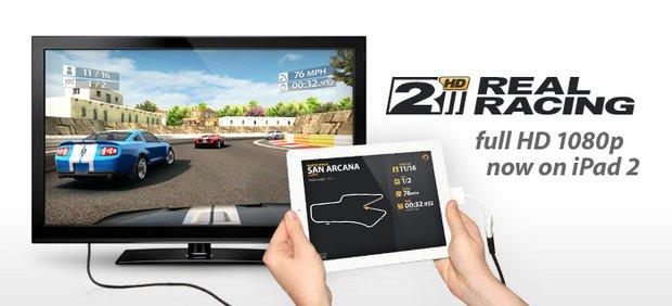 Real Racing 2 HD: Neue Version mit 1080p-Video-Ouput für iPad 2