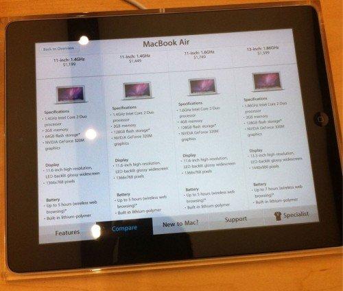 Apple Store 2.0: Viel Tamtam für iPads als Preisschilder, neue Apple Store App