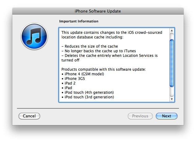 iOS 4.3.3: Apple veröffentlicht neue Firmware mit Geo-Tracking Bugfixes
