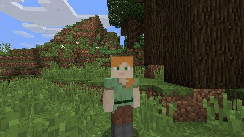Minecraft 1.8: Alex mit den dünnen Armen