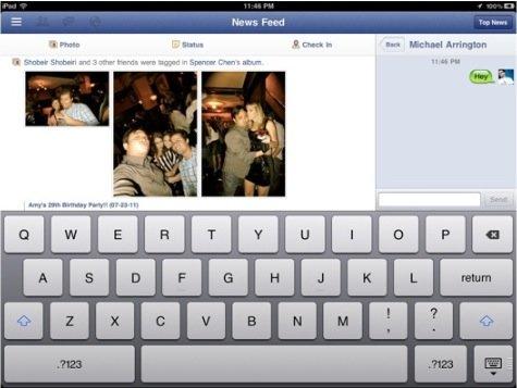 Facebook-App für iPad am 22. September?