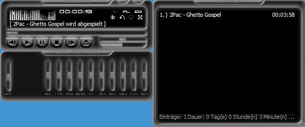 Der Player Xenorate erinnert an Winamp und spielt ebenfalls Video- und Audio-Dateien ab.
