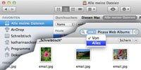 OS X Lion: Daten suchen