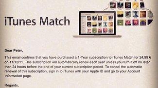 iTunes Match: Europa-Start in Kürze oder Systemfehler?