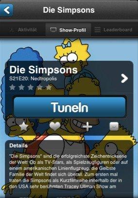 iPhone-App TunedIn: Facebook für Fernsehen