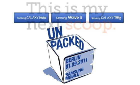 Samsung auf der IFA: Galaxy Tab 7.7 und Galaxy Note werden vorgestellt