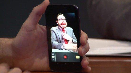 Live Video-Effekte in Android 4.0 ICS demonstriert