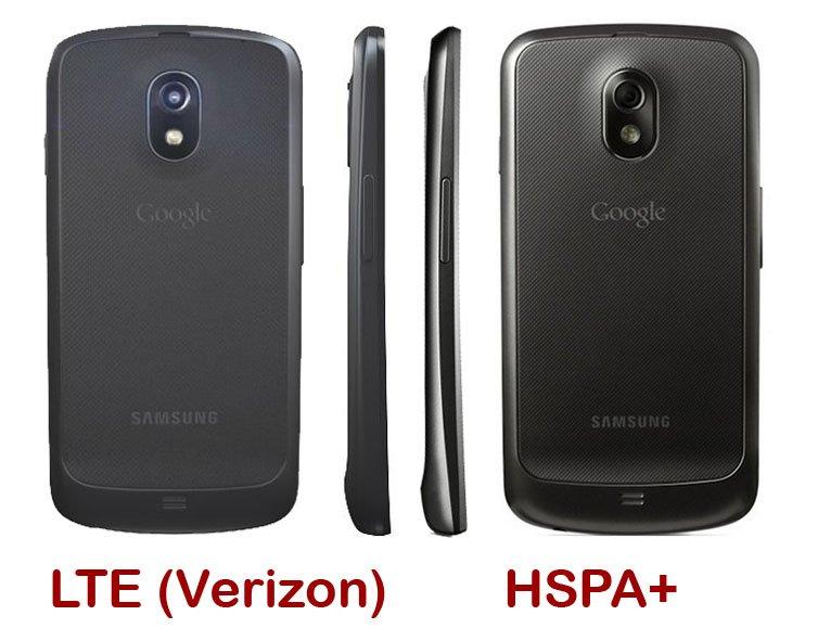 Galaxy Nexus: LTE-Version ist etwas dicker