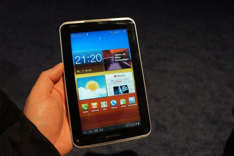 Samsung Galaxy Tab 7.0 Plus: Mit einigen Design-Änderungen nach Deutschland