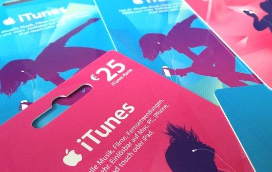 iTunes Karten (Juli 2013) mit Rabatt für Apps, Software, Musik, Filme