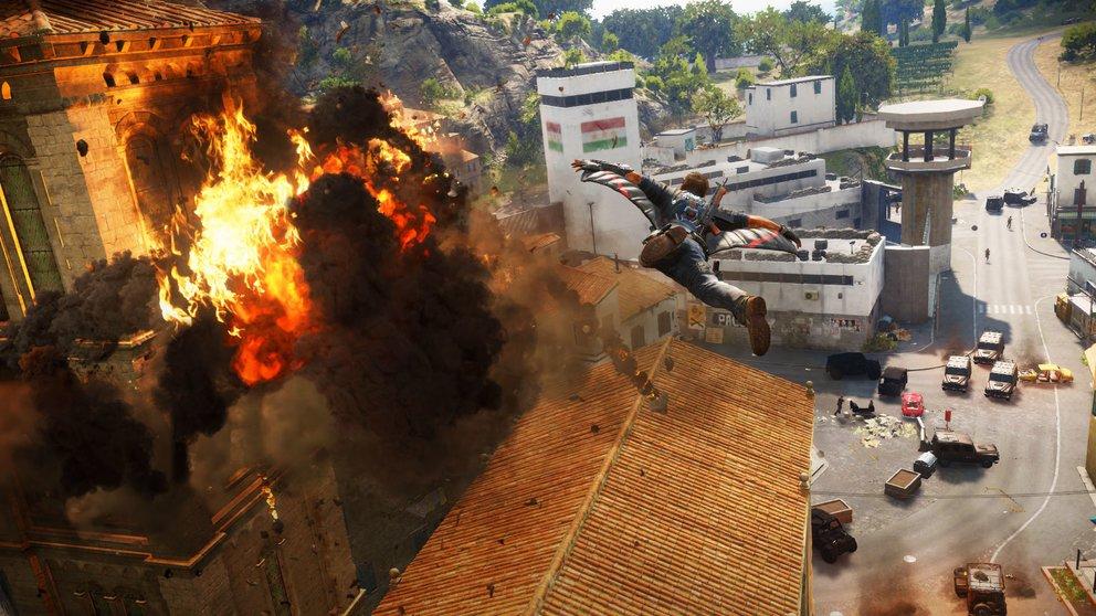 Just Cause 3: Der Wingsuit gehört zu den neuen Spielelementen.