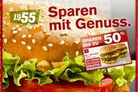 50% sparen bei McDonalds und Burger King