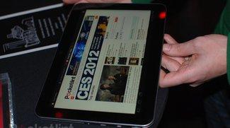 Toshiba auf der CES 2012 - Excite X10 Tablet demonstriert