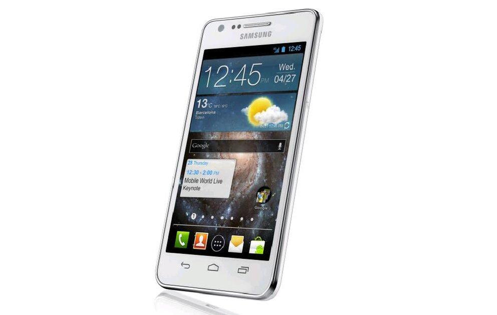 Samsung: Pressebild zeigt Smartphone mit Android 4.0