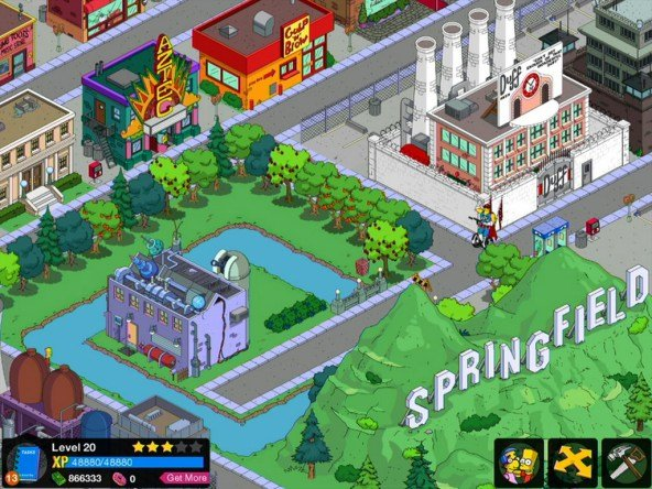 Simpsons-iphone-App-Springfield