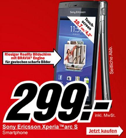 Sony Ericsson Xperia Arc S Media Markt Angebot