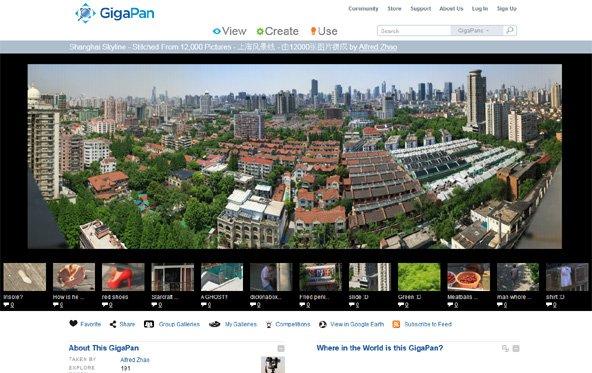 Digitales Foto der Shanghai Skyline mit 272 Gigapixel