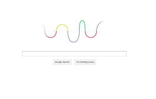Animiertes Google Doodle zu Ehren von Hertz