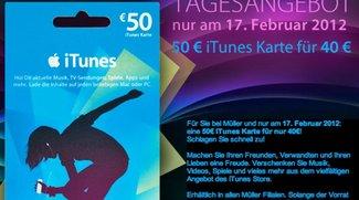 Prospekt-Check: iTunes-Karten mit 20 Prozent Rabatt (mal wieder)