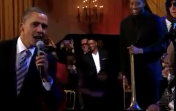 "Präsident Obama singt mit B. B. King ""Sweet Home Chicago"" (Video)"