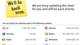 Vor iPad 3 Keynote: Apple Stores sind offline