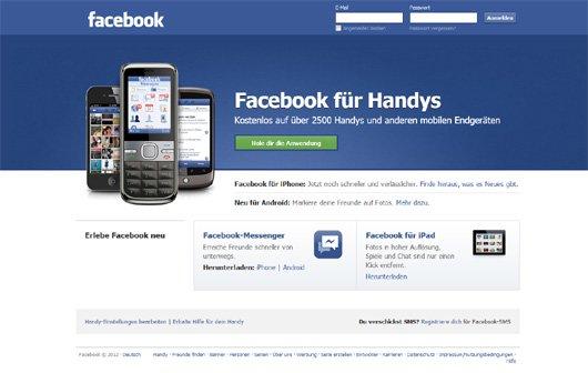 Facebook - Werbung künftig auch auf Smartphones