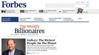 Forbes-Liste der reichsten Menschen der Welt veröffentlicht