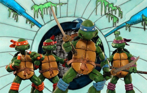 Tennage Mutant Ninja Turtles - das Intro im Stop Motion-/ Surf Punk-Stil