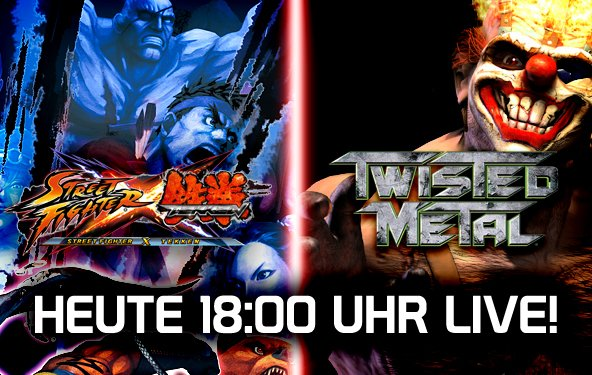 LIVE Gameplay - Street Fighter X Tekken, Twisted Metal und Jak & Daxter