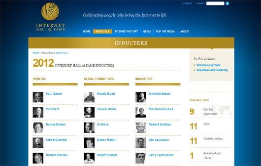 Internet Hall of Fame - Ehrung für Netz-Pioniere