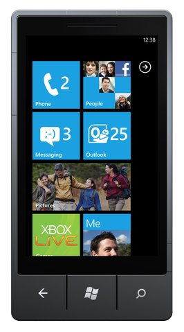 Windows Phone 7 Startscreen