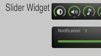 Slider Widget: Widget für Displayhelligkeit und alle Lautstärke-Level