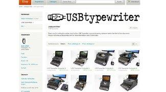 Antike Schreibmaschinen als Tastatur für PCs und Tablets