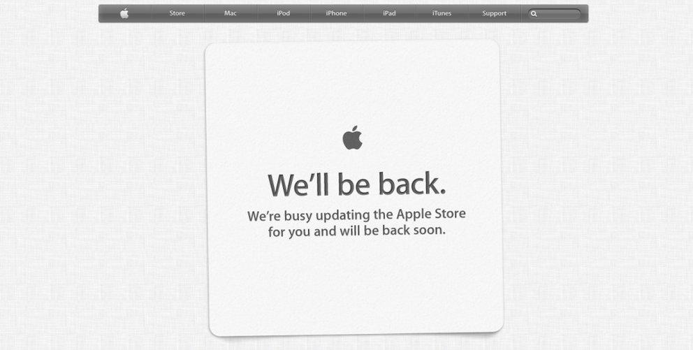 Apple Store offline: Heute gibt es neue Hardware!
