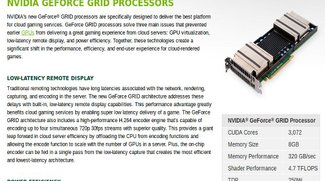 NVIDIA GRID: Geforce-Power bald nur noch aus der Cloud?
