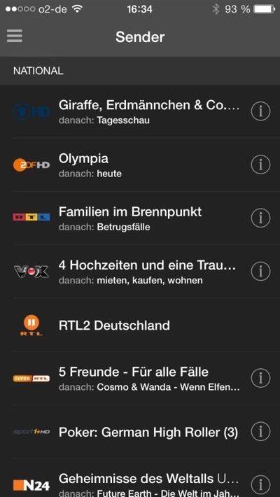 Zattoo-App für iPad/iPhone