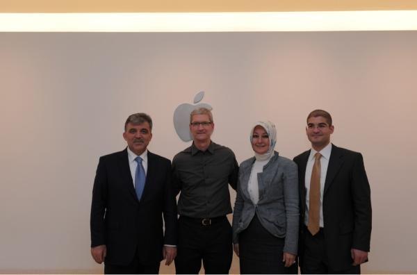 Türkischer Präsident Abdullah Gül besuchte während US-Reise Tim Cook