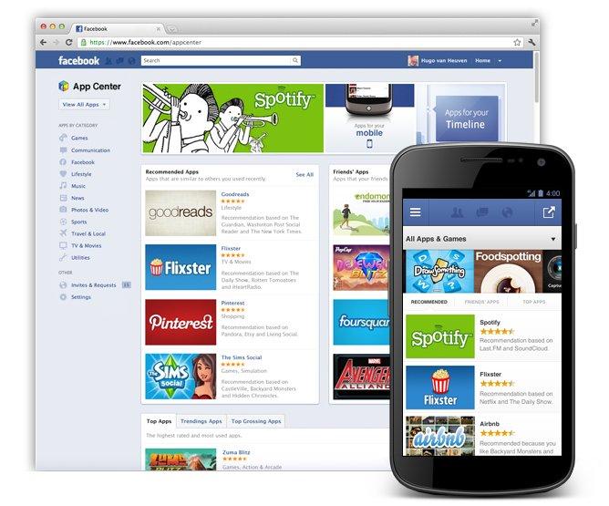 Facebook bereitet eigenes App Center vor