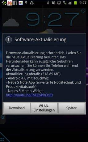 Samsung Galaxy Note Update 4.0