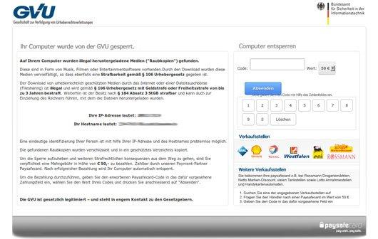 Angebliche Urheberrechtsverletzung: Malware erpresst Lösegeld