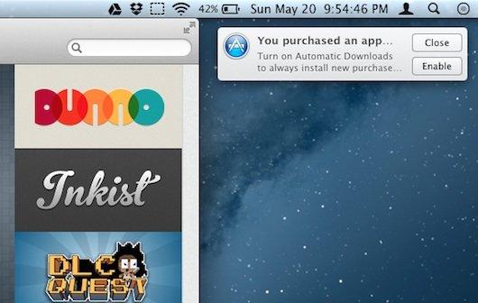 Mountain Lion: Hinweis für Auto-Install-Funktion im Mac App Store
