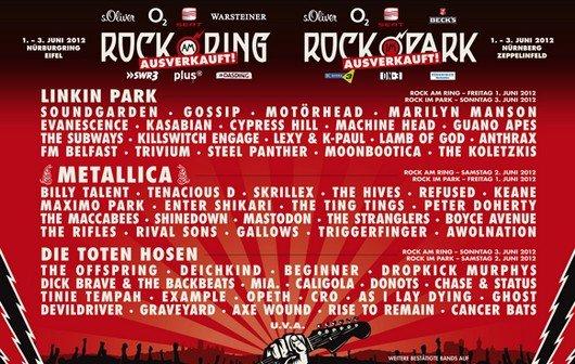 Rock am Ring im Live-Stream: Das Festival-Ereignis 2012 mit Metallica, Tote Hosen, Gossip...