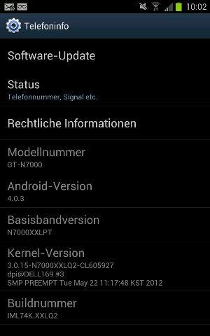 Vodafone Samsung Galaxy Note mit Android 4.0-Update