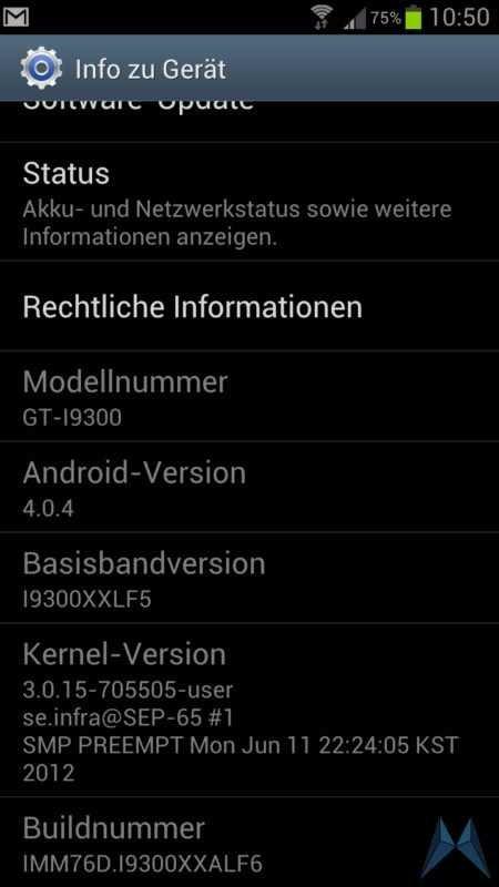 Samsung Galaxy S3 Software-Update