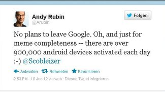 900.000 Android Aktivierungen pro Tag