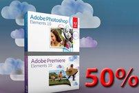 Adobe Photoshop und Premiere Elements:<b> 50 Prozent Ermäßigung</b></b>