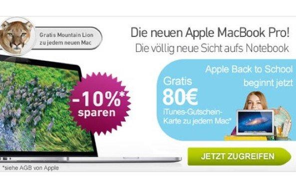 Apple Back to School 2012: Neuer Mac zum Studenten-Preis