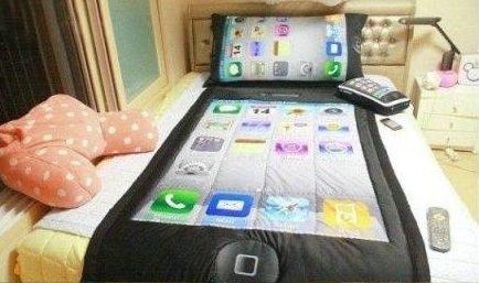 Betthupferl: Das iPhone-Bett
