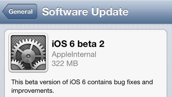 iOS 6 Beta 2