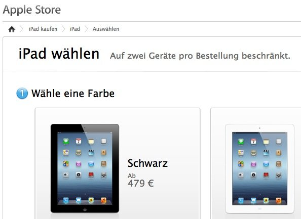 iPad: Apple hebt Mengenbeschränkung für Einzelbestellungen auf